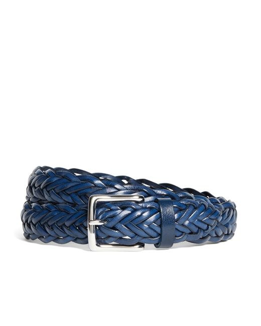 Brooks Brothers | Blue Leather Braided Belt for Men | Lyst