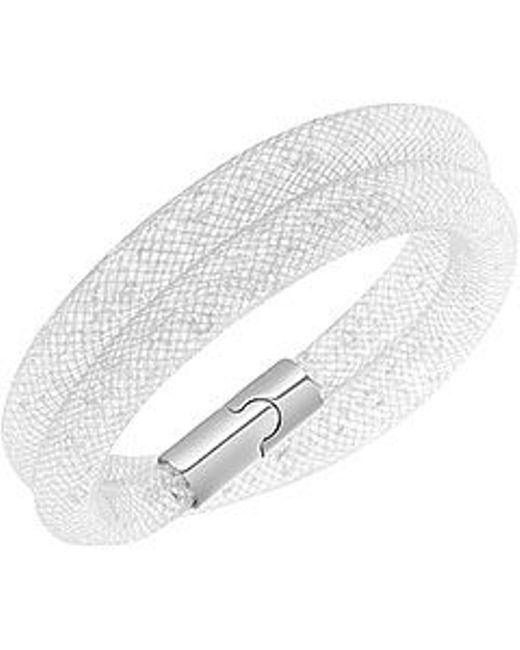 Swarovski | Gray Stardust Double Bracelet Medium 40cm | Lyst