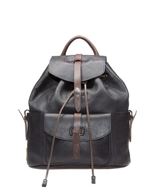 Will Leather Goods | Black 'rainier' Leather Backpack | Lyst