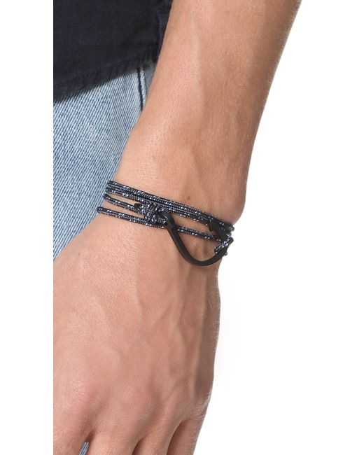 Miansai | Blue Hook On Rope Noir Bracelet for Men | Lyst
