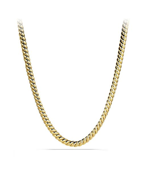 David Yurman | Metallic Hampton Cable Necklace In 18k Gold | Lyst