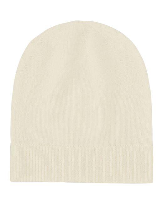 Uniqlo Cashmere Knit Beanie in White (OFF WHITE)  4edcb33673d6