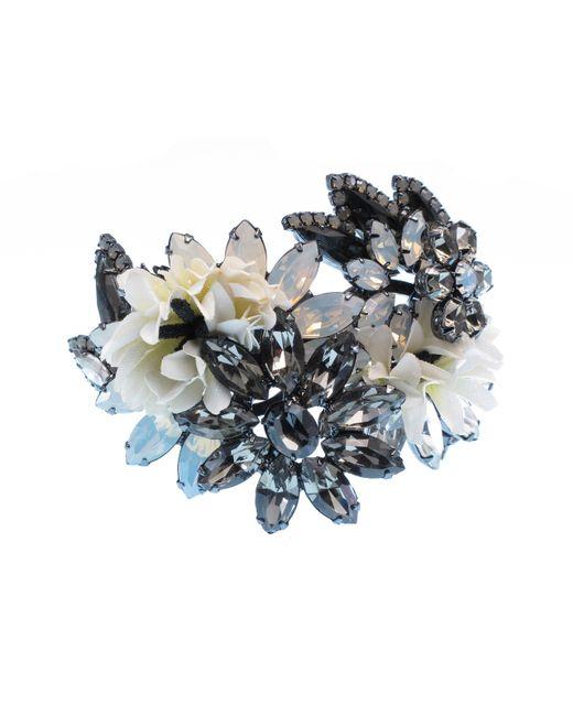 Elizabeth Cole | Metallic Goldplated Swarovski Crystal Bracelet | Lyst