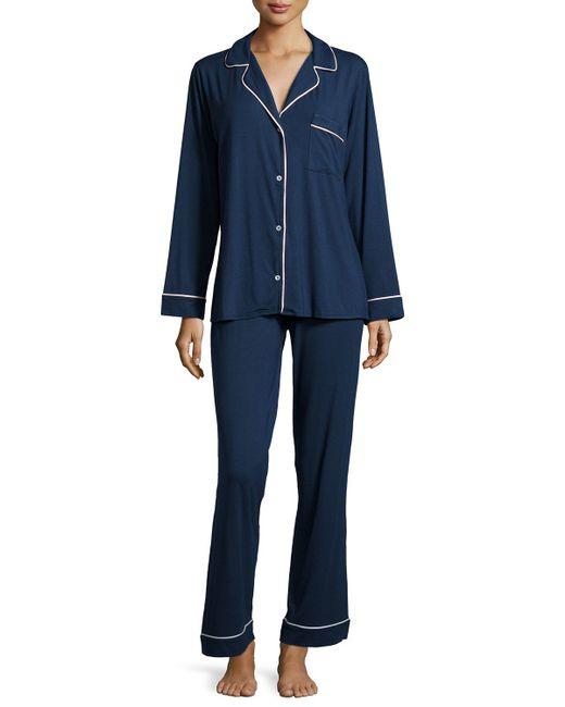 Eberjey | Blue Gisele Long Pajama Set | Lyst