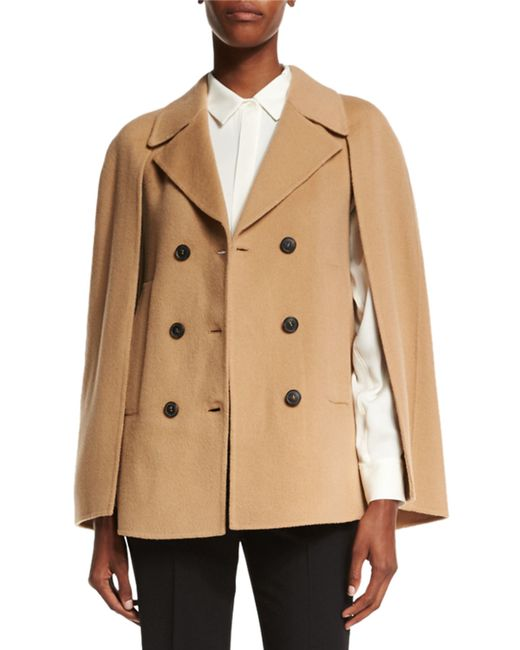 Theory | Brown Kapalin New Divide Double-breasted Cape | Lyst