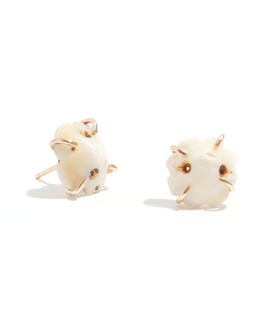 Melissa Joy Manning | Metallic Vintage Shell Ornament Stud Earrings | Lyst