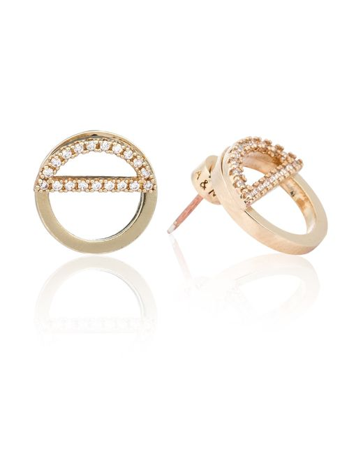 Astrid & Miyu | Metallic Half Circle Ear Jacket In Gold | Lyst
