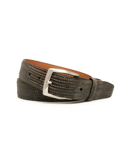 Trafalgar | Black 'chadwick' Lizard Leather Belt for Men | Lyst