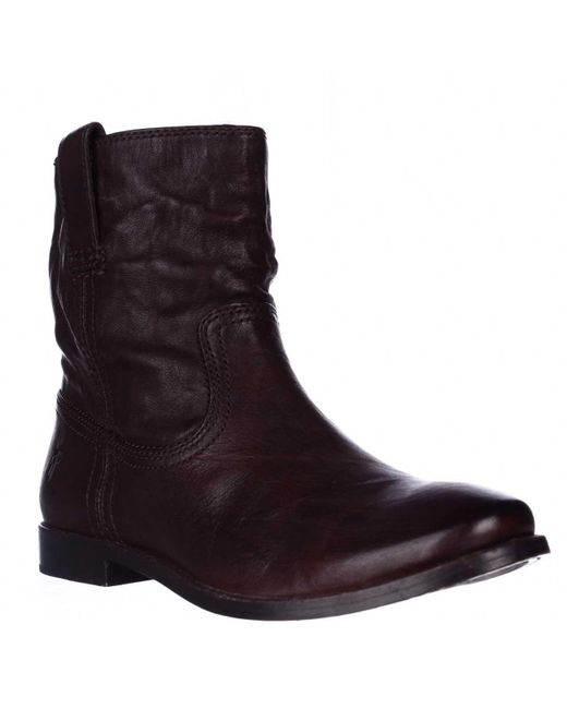 Frye | Brown Anna Shortie Flat Boots | Lyst