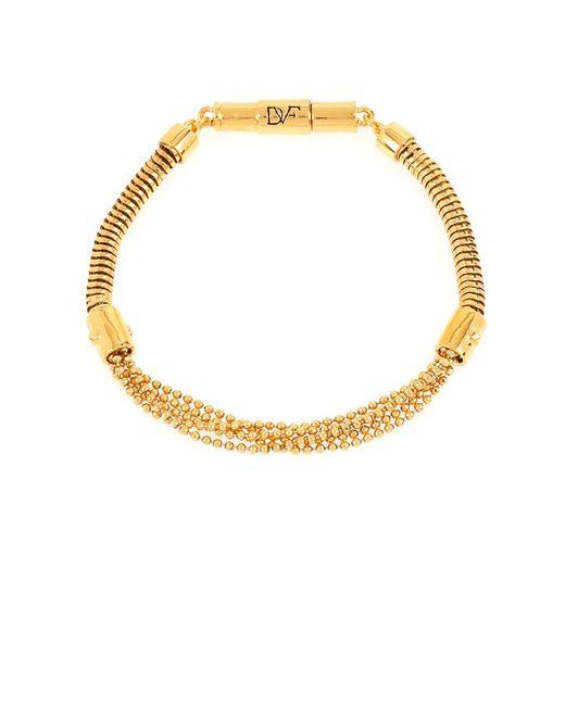 Diane von Furstenberg | Metallic Holiday Pave Mixed Bracelet | Lyst