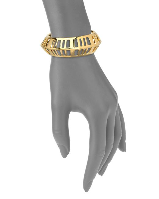 Nest | Metallic Cage Cuff Bracelet | Lyst