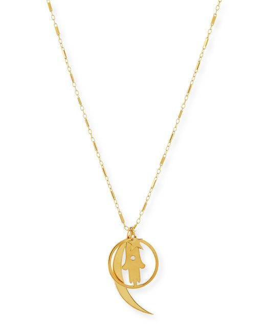 Jennifer Zeuner | Metallic Cherie Gold Vermeil Long Charm Necklace | Lyst
