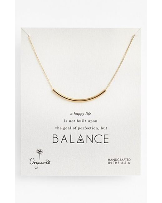 Dogeared | Metallic 'balance' Necklace | Lyst