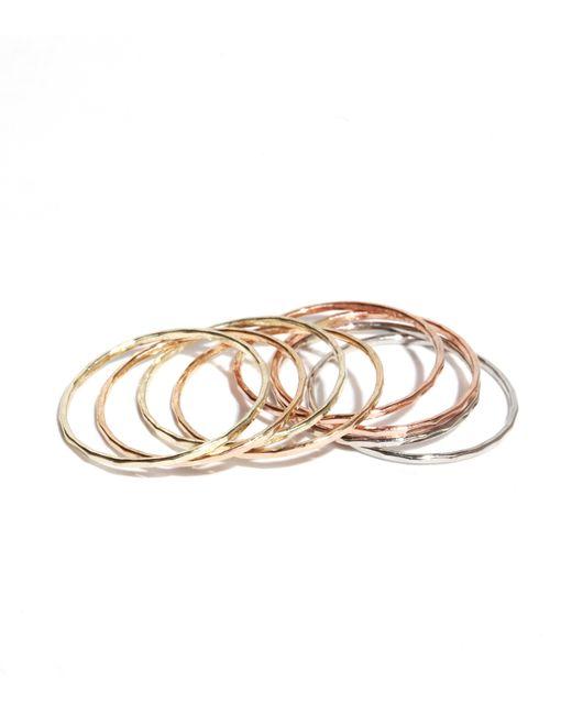 Melissa Joy Manning   Metallic Stacking Gold Rings   Lyst