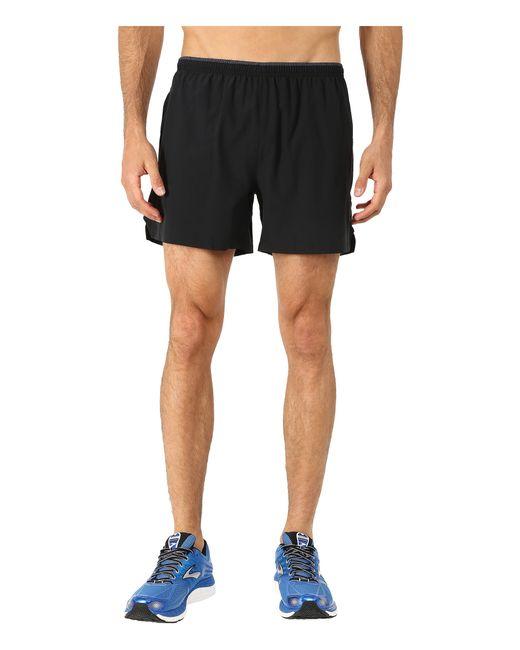 "Brooks | Black Sherpa 5"" Shorts for Men | Lyst"