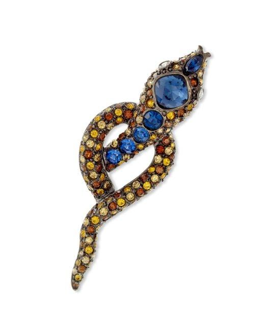 Kenneth Jay Lane | Multicolor Multi Topaz Snake Brooch | Lyst
