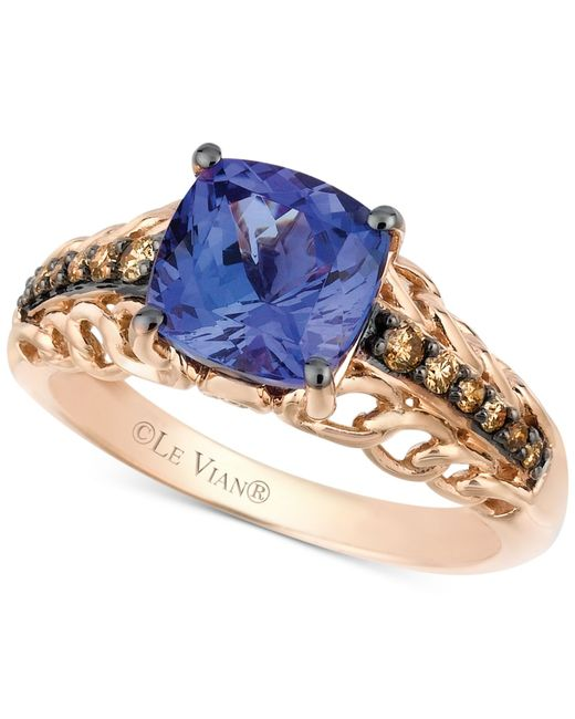 Le Vian | Brown Tanzanite (2 Ct. T.w.) And Chocolate Diamond (1/5 Ct. T.w.) Accent Ring In 14k Rose Gold | Lyst