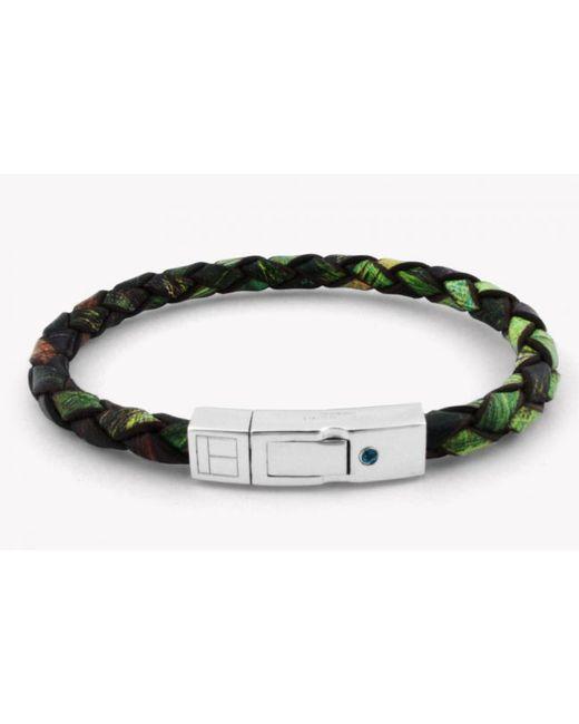 Tateossian | Amazonia Scoubidou Silver Bracelet In Green for Men | Lyst