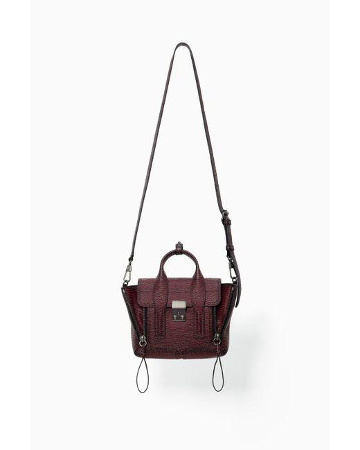3.1 Phillip Lim   Red Pashli Mini Leather Satchel   Lyst