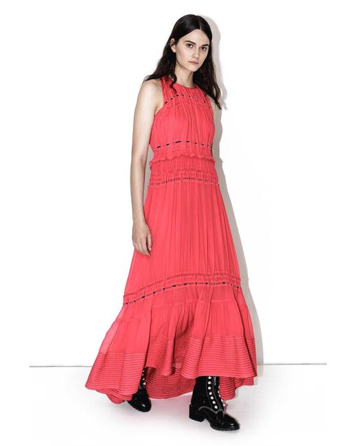 3.1 Phillip Lim - Pink Pintucked Gown - Lyst