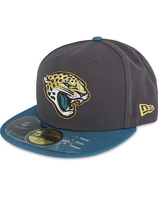 new era jacksonville jaguars cap in blue for men grey. Black Bedroom Furniture Sets. Home Design Ideas