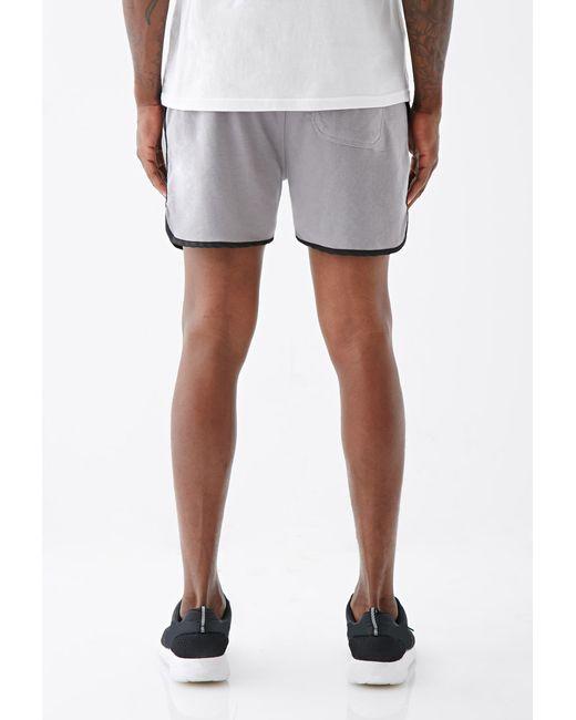 Forever 21 | Gray Satin-trimmed Gym Shorts for Men | Lyst