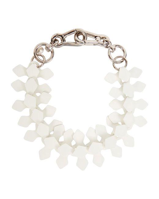 Moxham | Kline White Adjustable Laser-cut Necklace | Lyst