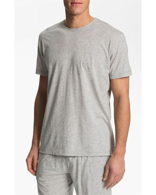 Daniel buchler peruvian pima cotton t shirt in gray for for Peruvian cotton t shirts