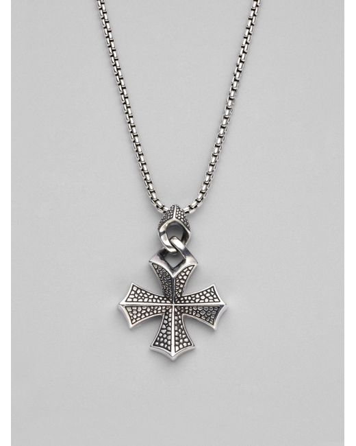 Stephen Webster | Metallic Sterling Silver Cross Necklace for Men | Lyst