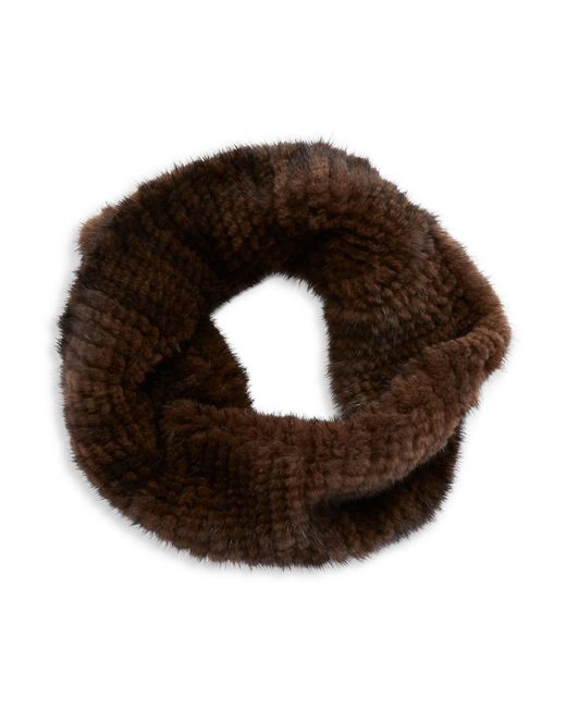 Surell   Brown Mink Fur Infinity Loop Scarf   Lyst