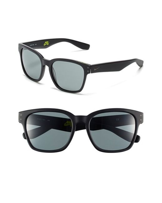Nike | Black 'volano' 55mm Sunglasses | Lyst