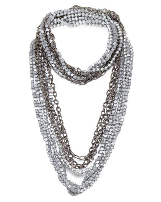 Jianhui   Metallic Strand Multiway Necklace   Lyst
