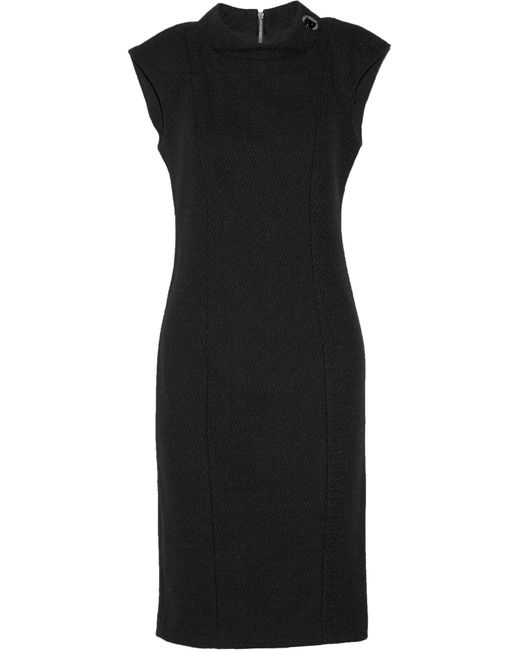 Badgley Mischka | Black Stretch-knit Dress | Lyst