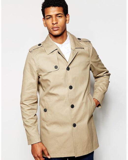 selected trench coat in beige for men sand lyst. Black Bedroom Furniture Sets. Home Design Ideas
