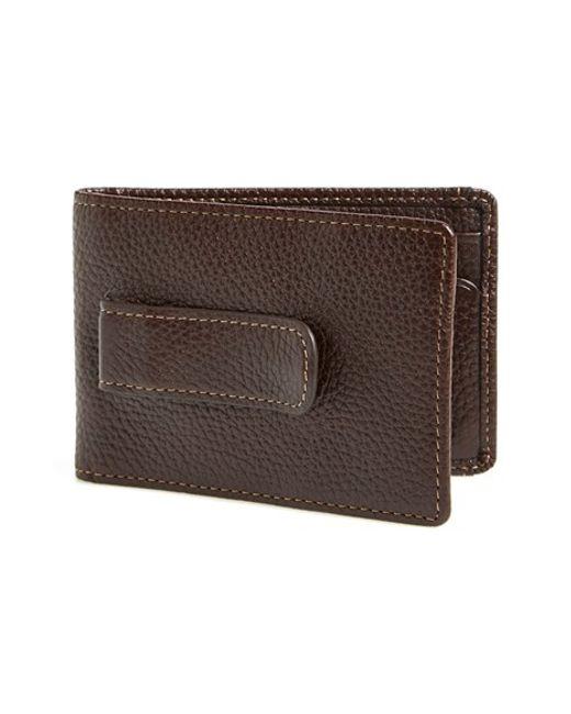 Boconi | Brown 'tyler' Money Clip Wallet for Men | Lyst