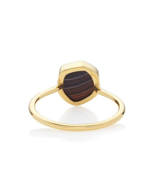 Monica Vinader | Black Atlantis Gem Mini Stacking Ring | Lyst