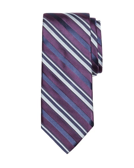 Brooks Brothers | Purple Alternating Bar Stripe Tie for Men | Lyst