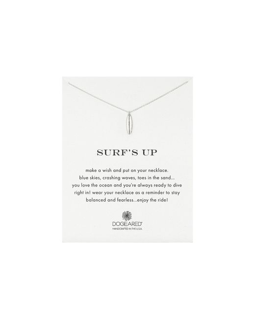 Dogeared | Metallic Surf's Up Surfboard Reminder Necklace | Lyst