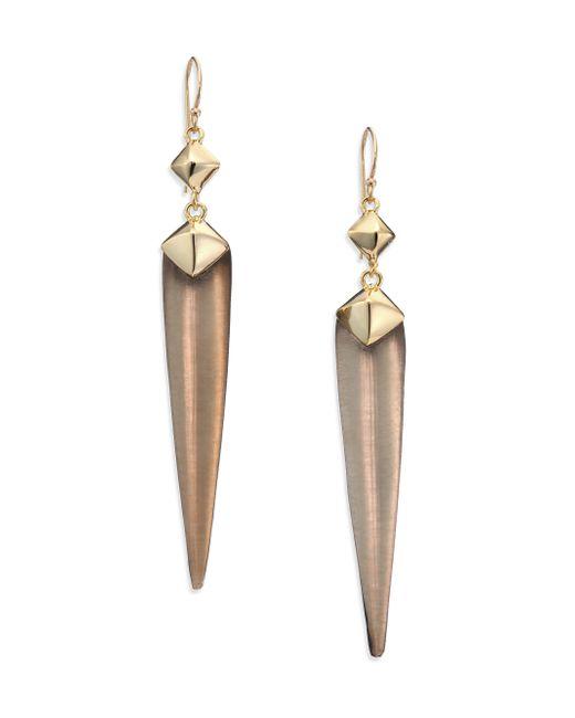 Alexis Bittar | Metallic Lakana Lucite Studded Spear Drop Earrings | Lyst