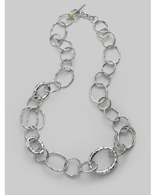 Ippolita | Metallic Glamazon Sterling Silver Bastile Element Short Link Chain Necklace | Lyst