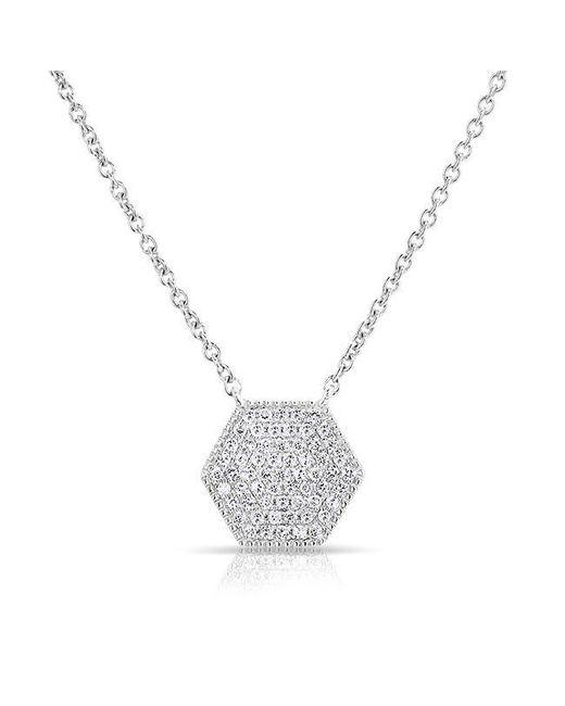 Anne Sisteron - Metallic 14kt White Gold Diamond Honey Necklace - Lyst