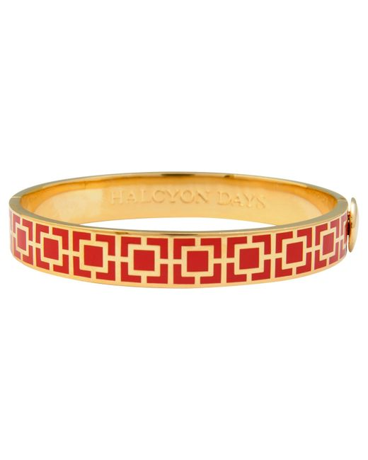 Halcyon Days | Red Enamel Mosaic Bangle | Lyst