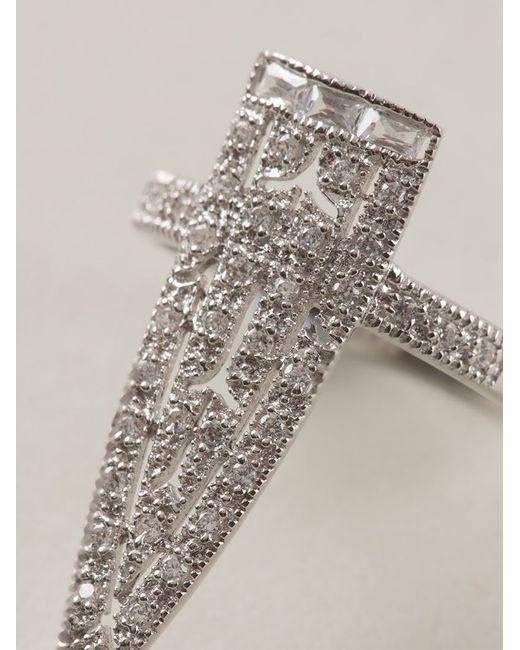 V Jewellery | Metallic 'royal Sword' Ring | Lyst