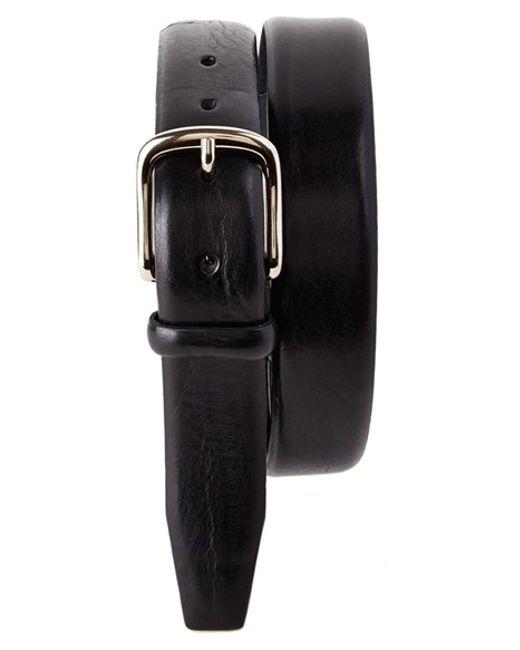 Trafalgar | Black 'stratham' Leather Belt for Men | Lyst