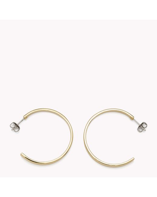 Tommy Hilfiger | Metallic Hoop Earrings | Lyst