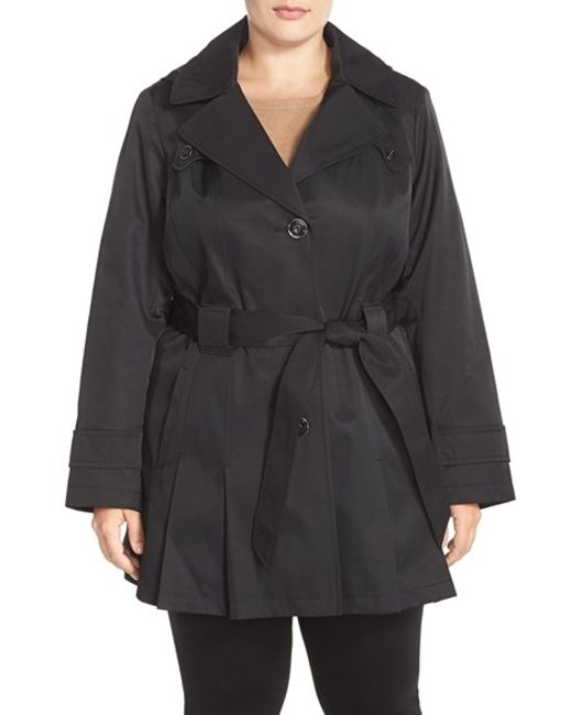 Via Spiga | Black 'scarpa' Single Breasted Hooded Trench Coat | Lyst