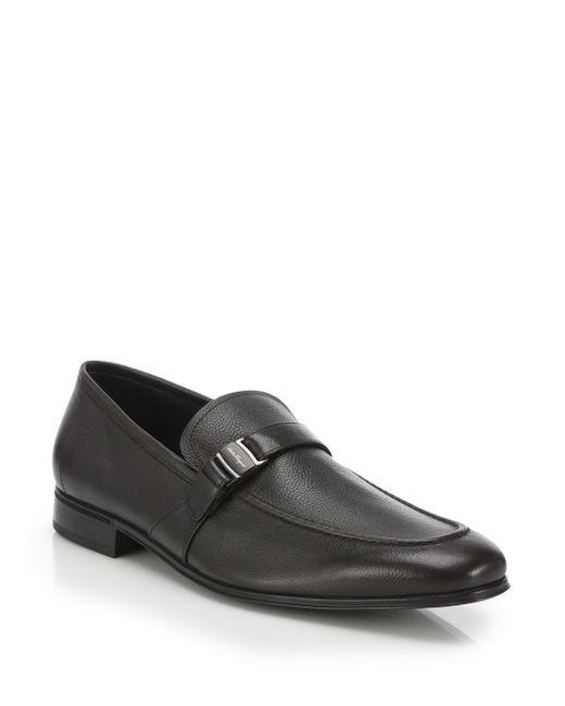 Ferragamo | Black 'pinot' Loafer for Men | Lyst