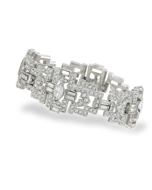 Kenneth Jay Lane | Metallic Crystal Art Deco Bracelet | Lyst