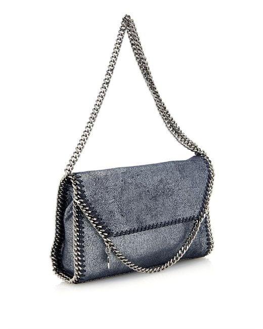 Stella McCartney | Blue Falabella Shaggy Deer Mini Bag | Lyst