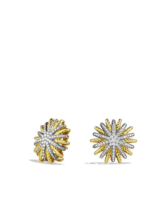David Yurman | Metallic Starburst Earrings With Diamonds In 18k Gold, 22mm | Lyst